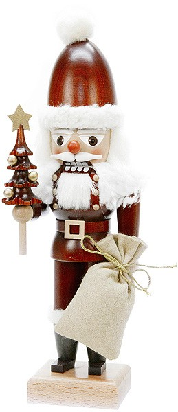 Nussknacker Weihnachtsmann naturfarben