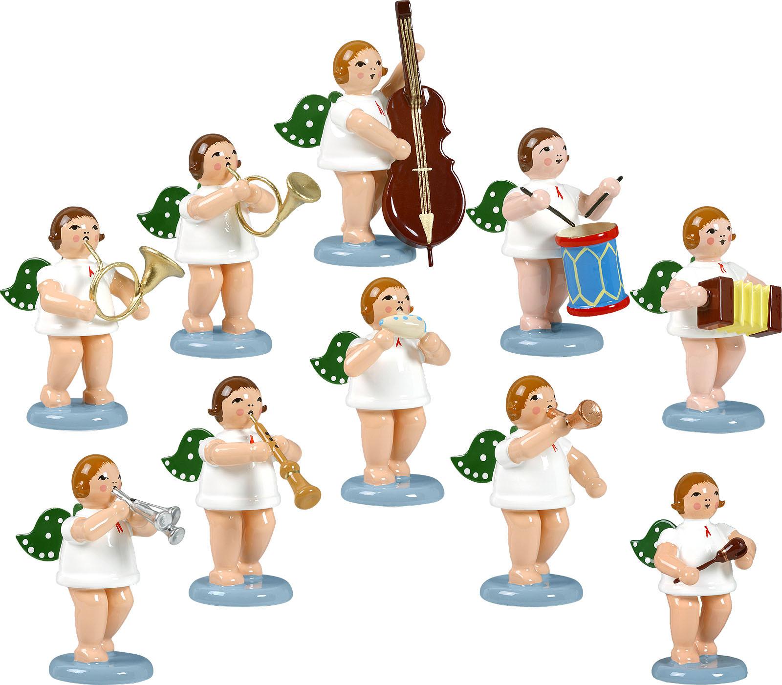 Engelmusikanten 10-teilig, Variante 4 - ohne Krone