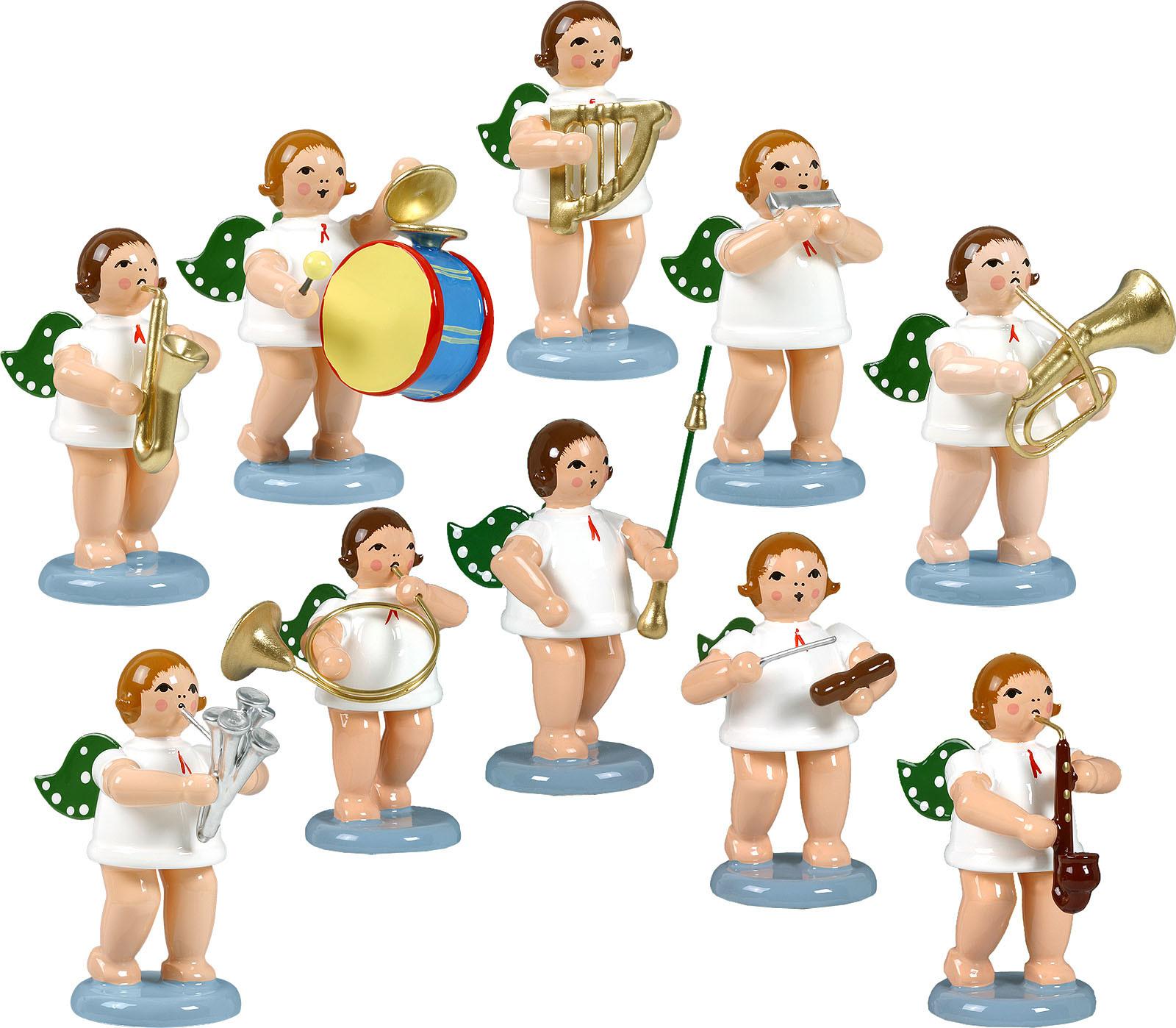 Engelmusikanten 10-teilig, Variante 5 - ohne Krone
