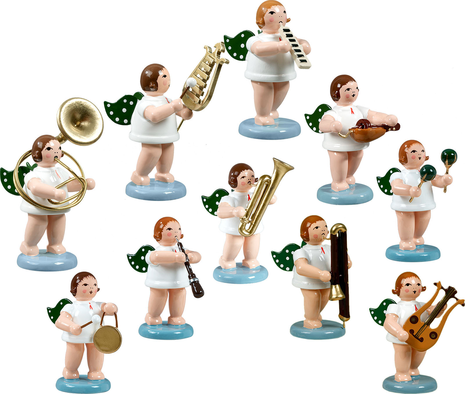Engelmusikanten 10-teilig, Variante 7 - ohne Krone