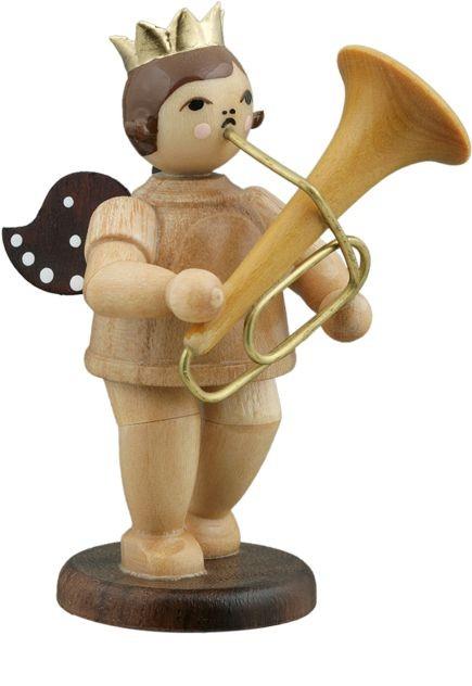 Engel mit Tuba, Natur mit-Krone