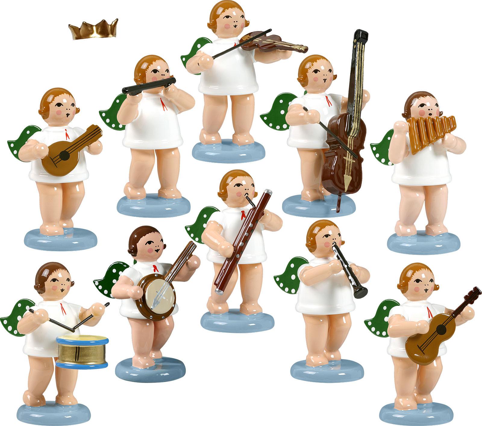 Engelmusikanten 10-teilig, Variante 2 - mit Krone