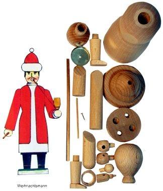 Räuchermann  Weihnachtsmann, Selbstbausatz